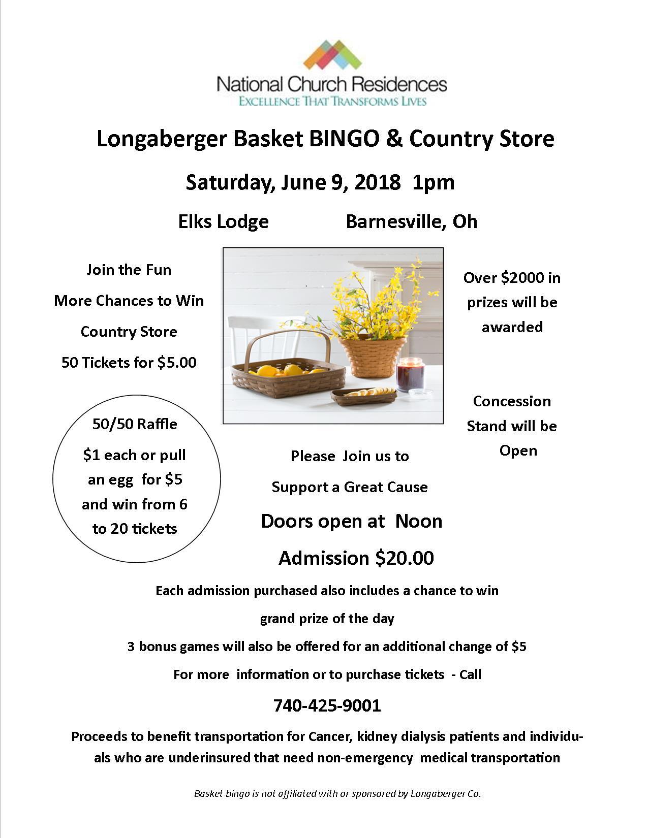 Longaberger Basket BINGO & Country Store - Barnesville Area Chamber ...