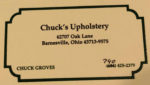Chuck's Upholstery